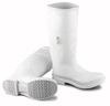 "Dunlop 81011 White PVC 16"" Plain Toe Boots"