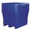 Combo Bin, Pallet, 2-Way, Natural, Polyethylene, Drain