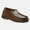 Plain Toe Overshoe, PVC, Plain, Pull-On, Amber, Small