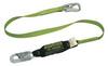 Miller 5K® 913B/6FTGN Shock Absorbing Lanyard, Polyester Webbing, Green, 6-ft Locking Snap Hook (Harness), 310 lb