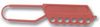 Honeywell Lockout Hasp M501 North® Bright Red Nylon Snap-On