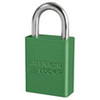 "American Lock® Green Aluminum Safety Lockout Padlock, 1"" Shackle"