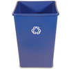 Untouchable®, Recycling Container, 35 gal, Blue