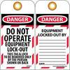 National Marker® LOTAG11-25 Danger Do Not Operate Tag