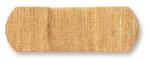 "American® White Cross 1595033 Tan Fabric Bandage, 1"" x 3"""