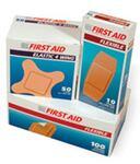 "American® White Cross 1570033 Fabric Strip Tan Bandage 2"" x 4.5"""