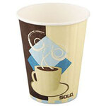 Tuscan Cafe Insulated Paper Hot Cups, 12oz, White