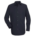 RED KAP®, Specialized Cotton Work Shirt, Cotton, Navy, Large