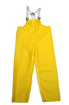 Rain Bib Trouser, Nylon on Polyurethane, Yellow, Snap