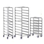 Aluminum End Loading Platter Cart, 10 Tray Capacity