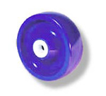 Solid Wheel, 2 in, 1200 lbs, Polyether Polyurethane with Delrin Bearing, Blue