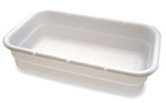 "Food Handling White Box Tote Polyethylene 17.75"" L x 9"" W x 3"" H"