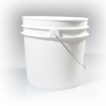 Berlin 250674 Pail, High-Density Polyethylene, 1 gal, White
