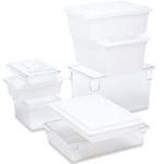 Food / Tote Box, Polycarbonate, White, 2 gal