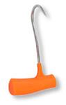"Ronin Right Hand Plastic Anti-Microbial Orange Handle Boning Hook 7"""