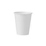 Solo®, Hot Cup, White, Paper, 8 oz, 50 per Bag|1000 per Case