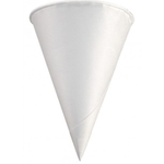 Triangular White Paper Cone Cups 6 Oz Solo® 6R-2050 Rolled Rim