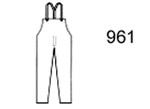Guardian Protective Wear 961Y Bib Overall, Polyurethane/Nylon, Yellow, L