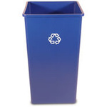 Untouchable®, Recycling Container, 50 gal, Blue