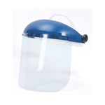 Pin-Lock Headgear, Plastic, Clear (Window) / Blue (Crown)