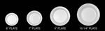 Dart®, Disposable Plate, Round, Non-Laminated Foam, White, 9 in, Concorde