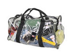 Clear Vinyl Duffle Bag with Shoulder Strap