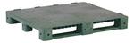 KitBin® PNH2001GRN Solid Deck Pallet, 48 L x 40 W in, Green