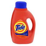 Tide®, Liquid Laundry Detergent, Liquid, 50 oz, Blue, Clean Fresh