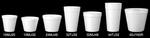 Dart®, Cold and Hot Cup, White, Polystyrene Foam, 12 oz, 25 per Bag|500 per Case