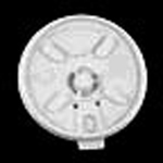 Dart®, Lift N' Lock Lid, Round, Plastic, White