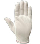 Cleanroom Gloves, Nylon, White, Uncoated, X-Large