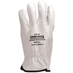 Leather Protector Gloves, Leather / Vinyl, Class 00 Class 0