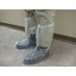 Boot Cover, Polyethylene, Clear, Elastic Top, 2X-Large