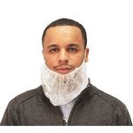 "White Disposable Beard Covers 21"" Latex Free Economy M8 ME2521W"