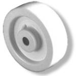 "Polyolefin White Molded Wheel 8"" Dia x 2"" W 800 lbs Capacity IHD"