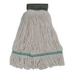 """MOP HEAD 16-20 OZ NATURAL COLOR, 5"""" BAND COTTON RAYON SYNTHETIC BLEND"""
