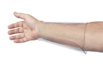 """Exact Equipment 7-1/2"""" Clear Plastic Arm Guard Small"""
