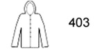 Guardian® 403Y Polyurethane Yellow Rain Jacket and Attached Hood
