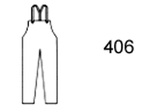 Guardian Protective Wear 406 Bib Overall, Polyurethane/Nylon, Olive, L