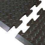 "Airug® Anti-Slip/Anti-Fatigue Black PVC Matting, 36"" x 60"""