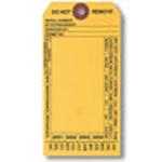 Machine Tag, English, FIRE EXTINGUISHER, Black on Yellow
