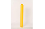 "Eagle® Polyethylene 6"" Smooth Bumper Post Sleeve Yellow"