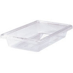 Food / Tote Box, Polycarbonate, Clear, 2 gal