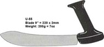 9 Butcher Knife Large Upright Black Handle Stirex® U-55