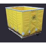 Dandux®, Laundry Truck, 49 in, 30 in, 33 in, Swivel Caster, Glowtex / Spring Steel (Frame), 49 x 33 x 30 in, Yellow, 24, 2 (Rigid), 2 (Swivel), Laundry Work, High Tensile Strength
