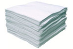 MeltBlown Mat Pad, Polypropylene, 17 gal, White, 19 in, 15 in, Oil Only, 100 Pads per Box