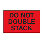 Dot and Shipping Labels, English, DO NOT DOUBLE STACK, Adhesive Backed, Black on Red