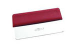 Dough Cutter, Straight, 3.4 in, Red, 6.1 in, Stainless Steel, 1.7 in, 6.1 x 3.4 in, Dough Cutting, 3 per Case, Autoclavable, Scotch Style