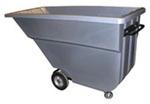"""Gray Plastic Utility Tilt Truck 220lb Cap 1.1 Cu Yd 69"""" x 31.5"""" x 39.5"""""""