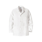 VF 0406WH Short Butcher Coat w/ Pockets and Gripper Front, Large